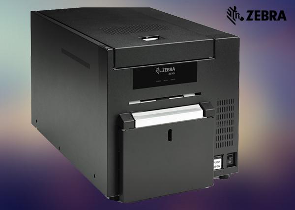 Id card printer dubaiuae time attendance systems cctv biometric zebra zc10l badge printer reheart Images